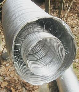 GAS CHIMNEY EXHAUST FLEXABLE NEW ALUMINUM DOUBLE LINER PIPE