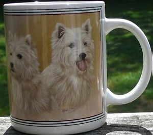 West Highland White Terrier mugs, Westie coffee mugs, westi mug