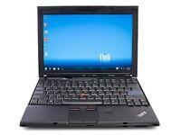 LOT of 10 LAPTOPS- Lenovo X200- 4GB Ram- 160GB- Windows 7- Wireless- Ready to use JOB LOT *WARRANTY*