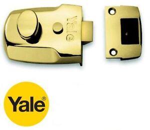 YALE-BRASS-60mm-P77M-BLX-NIGHT-LATCH-NIGHTLATCH-LOCK-CASE-ONLY-NO-CYLINDER