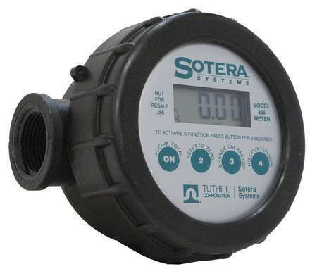 SOTERA 825 Meter, Digital,1 In, 2-20 gpm