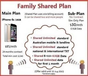 iPhone 6s Mobile Family Shared Plan Unlimited Australian Calls Auburn Auburn Area Preview