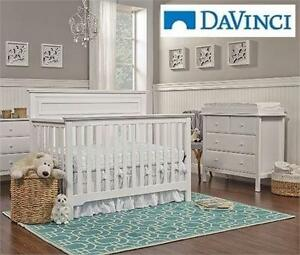 NEW* DAVINCI CONVERTIBLE CRIB   AUTUMN 4-IN-1 CONVERTIBLE CRIB - WHITE BABY NURSERY BEDROOM FURNITURE 99042526