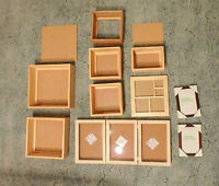 MOVING! Assorted Wooden Shadow Box & Panel Frames