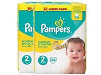 180 new sealed nappies (pampers and mamia)