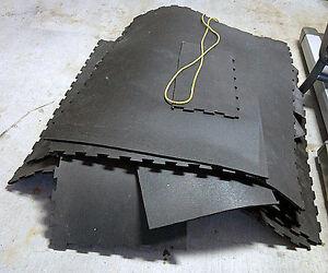 5' x 14' Professional Heavy Duty Rubber Interlocking Floor Mat
