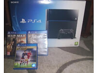 ps4 500gb boxed 3 games