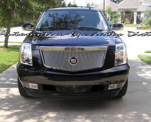 E&G 1PC VERTICAL CLASSIC GRILLE GRILL FITS 2007-2014 CADILLAC ESCALADE EXT ESV