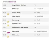 IAAF World Athletics World Championships Golden Session Mens 100m FINAL Usain Bolt - Family Ticket