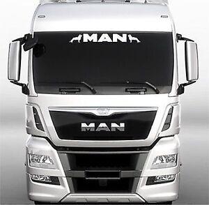 man truck screen sticker decal for lorry cab windscreen glass ebay. Black Bedroom Furniture Sets. Home Design Ideas