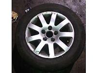 VW Passat x1 Alloy Wheel & Good Tyre