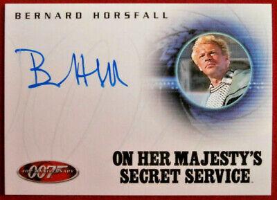 JAMES BOND - On Her Majesty's Secret Service - BERNARD HORSFALL - Autograph Card
