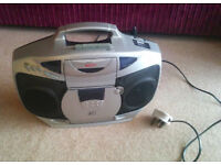 FREE - Portable CD Player with FM radio - Ideal for Kids, play room, garage