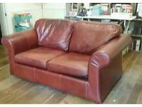 Darlings of Chelsea oxblood leather sofabed