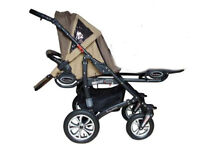 Babyactive Twinny Pushchair – 4 Wheeled Base Unit + One Pushchair Seat – Excellent Condition!