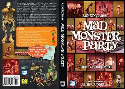 Rankin/Bass' Mad Monster Party Book by Rick Goldschmidt signed with art!50th Ann