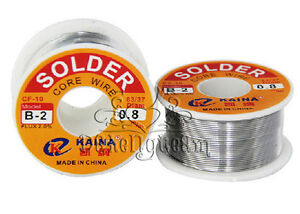 63-37-Tin-lead-Rosin-Core-Solder-Wire-0-5-2mm-2-Flux-Reel-Welding-line-100G