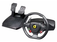 Thrustmaster F458 Racing Wheel & Pedals Xbox/PC - Very Good Condition