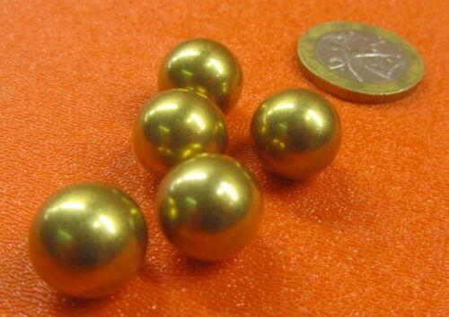 """260 Brass Solid Balls 1/2"""" Dia. +/-.001"""", 10 Pcs"""