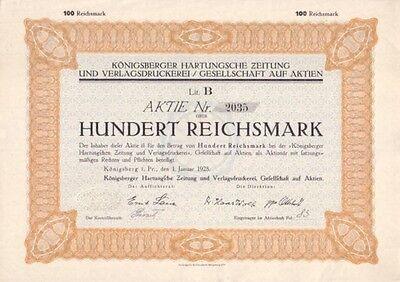 Königsberger Hartungsche Zeitung und Verlagsdruckerei 1928 Kaliningrad