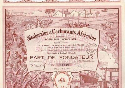 Sisaleraies et Carburants Africains Distilleries  1928  Dakar  Hochdeko