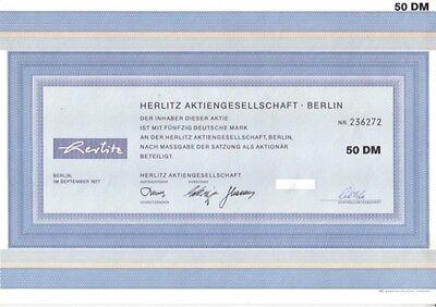 Herlitz AG 50DM Berlin  1977
