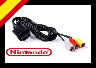 CABLE AUDIO VIDEO AV RCA SUPER NINTENDO 64 GAMECUBE N64 SNES NGC...