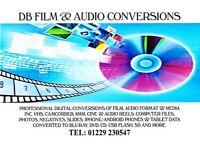 DB FILM & AUDIO CONVERSIONS - VHS TO DVD