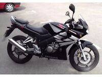 2007 cbr125 with full mot and low milage