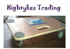 150 KG PLATFORM DOLLY CART  WOODEN BARROW CASTOR WHEELS furniture move 647896