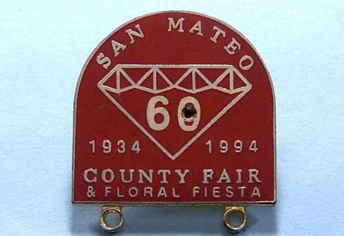 1934-1994 San Mateo County Fair, California 60 Year Anniversary, Collector Pin