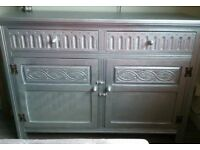 Beautiful Antique Silver Cabinet/Cupboard. Very Solid wood