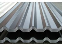 Corrugated, box profile sheets and flashings. Various lengths and colours