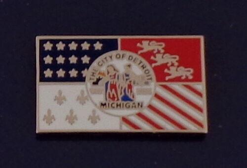 City of Detroit Michigan Flag LAPEL PIN Mich MI