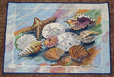 Shell Cluster Ocean Seashells Starfish Tapestry Placemat