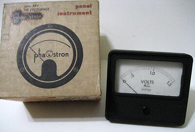Phaostron 0 - 1.5 Ac Volts 322-02763 Panel Meter - Usa - New Nib