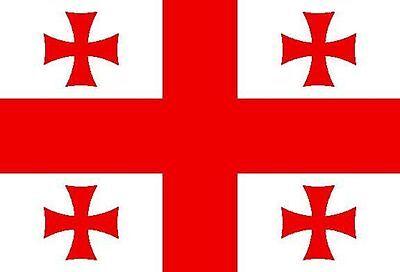 Georgien 12 (Aufkleber Georgien Flagge Fahne 12 x 8 cm Autoaufkleber Sticker)