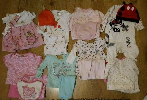 8 x baby girl 0-3 months outfits sets bundle