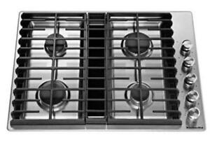 "KITCHENAID NEW KCGD500GSS 30"" GAS  STAINLESS STEEL  GAS COOKTOP(BD-1513)"