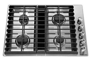 KITCHENAID NEW KCGD500GSS 30 GAS  STAINLESS STEEL  GAS COOKTOP(BD-1513)