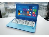 HP blue notebook laptop