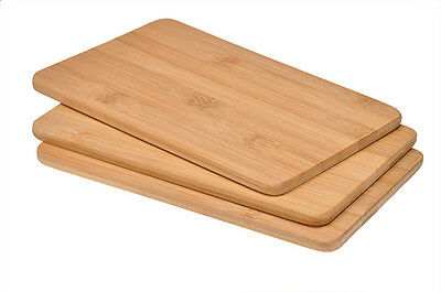 Kela 3er Set Schneidebrett Brett Hackblock Bambus Massiv Holz Holzbrett
