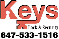 Locks, Doors & Cameras 24/7 Emergency  Service 647-533-1516