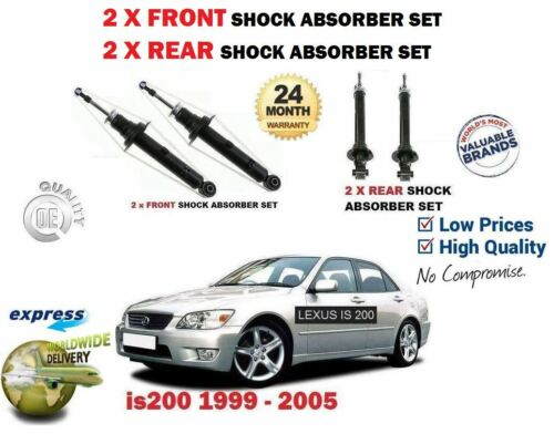 FOR LEXUS IS200 2.0 1999-2005 NEW 2x FRONT + 2x REAR SHOCK SHOCKER ABSORBER  SET