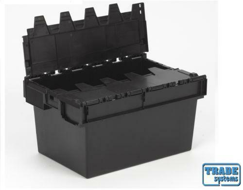 Plastic Crate Lid Storage Boxes Ebay