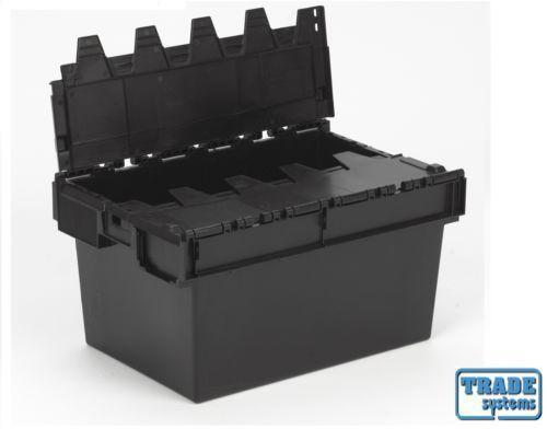 Plastic Crate Lid Storage Boxes Ebay