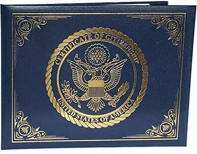 US Citizenship & Naturalization certificate padded holder with cover gold eagle