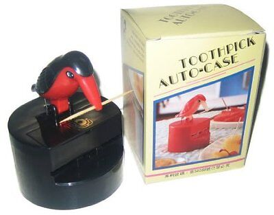 Toothpick Dispenser (Bird) Color: Red / Black NEW