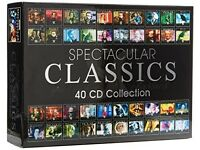ATTENTION CLASSICAL MUSIC LOVERS- Spectacular Classics 40 CD Collection Boxset - Like New