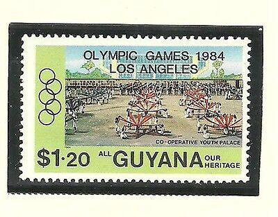 Album Treasures Guyana Scott # 835  Olympic Games Surcharge Mint NH